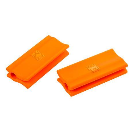 Asas de silicona parrilla naranja (2 uds. Ø35-45 cm) - Bra