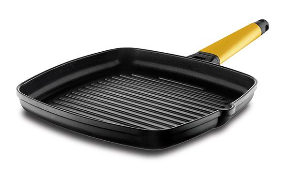 Grill con mango desmontable amarillo - Castey